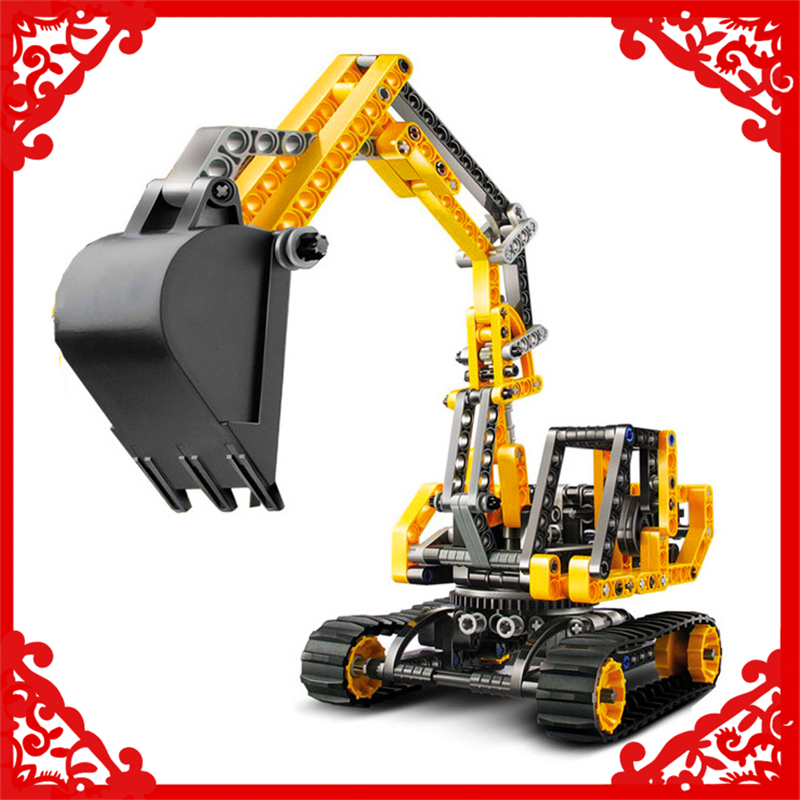 DECOOL 3359 286Pcs Technic City Series Excavator Building Block Brinquedos Educational  Toys For Children Compatible Legoe decool 3114 city creator 3in1 vehicle transporter building block 264pcs diy educational toys for children compatible legoe