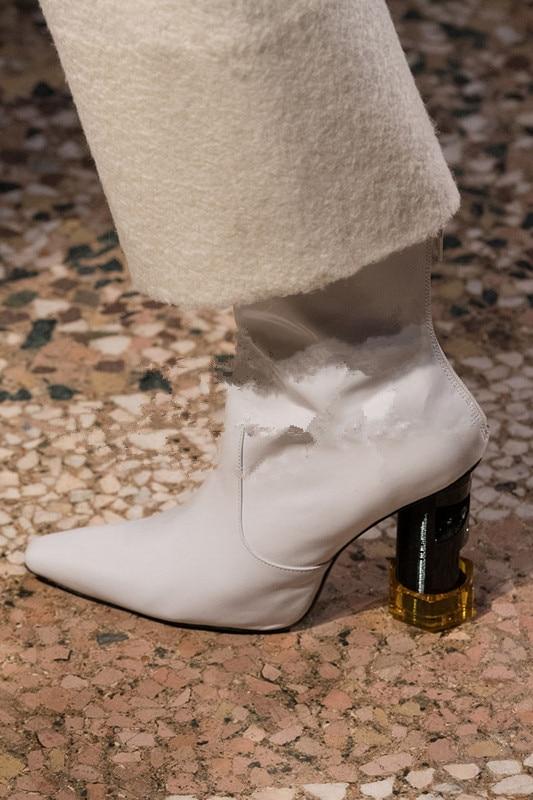Milan Modèle Si As Belle De Picture Catwalk Bout Fretwork Femmes En Talons Botas Véritable Bottes Beertola Mujer as Nouvelle Zip Zapatos Carré Cuir Picture Chaussure dq1UHnwdax