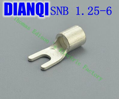 SNB1.25-6 Furcate Naked Terminal(Type TU) Cold pressed terminals/Cable Connector/Wire Connector 1000PCS/Pack 1000pcs dupont jumper wire cable housing female pin contor terminal 2 54mm new