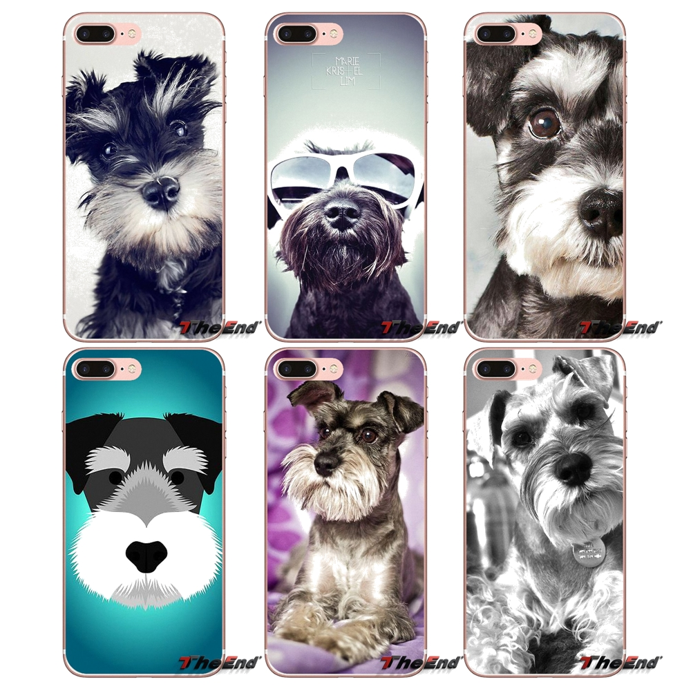 Fitted Cases Maiyaca Miniature Schnauzer Puppy Dog With Glass Phone Case Cover For Iphone 5 5s 6 6s 7 8 Plus X Soft Case For Samsung S7 Edge Phone Bags & Cases
