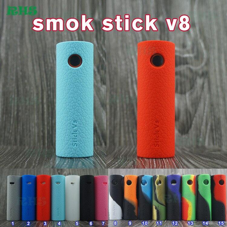 Хорошие продажи силиконовый чехол из VAPE ручка smok stick V8 детский набор 2000 мАч 2.0 мл stick V8 mod kit чехол очень приятно 20 штук Бесплатная доставка