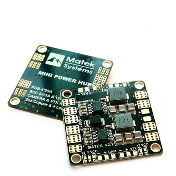 High Quality Matek Mini Power Hub Power Distribution Board With BEC 5V 12V For FPV RC Multicopter Drone Models Spare Parts