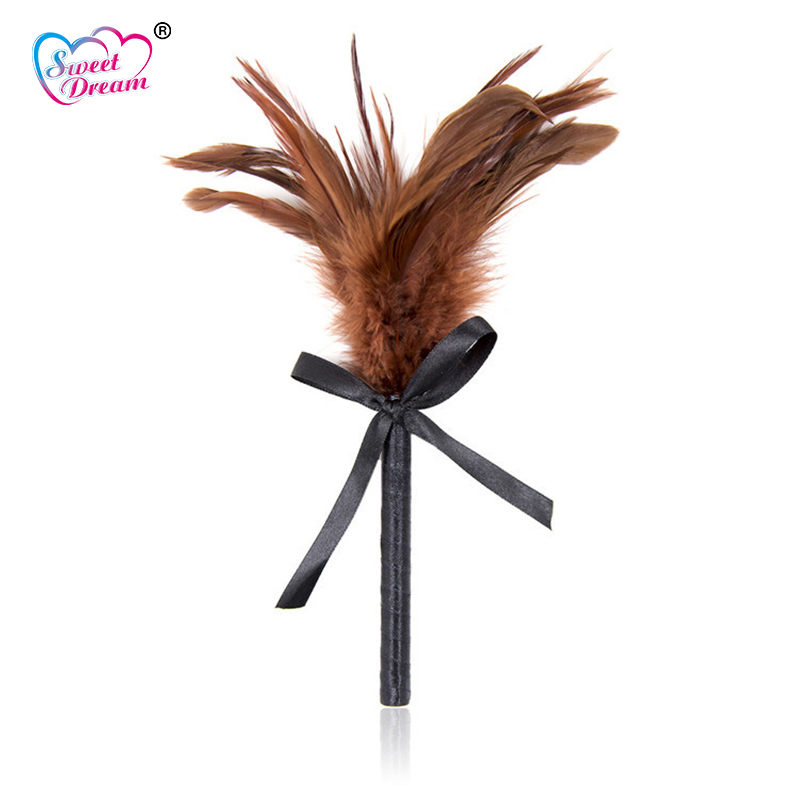 Sweet Dream Sex Products Flirt Tease Tickle Brown Feather Stick Adult Game Role Play Sex Products Sex Toys for Couples DW-386