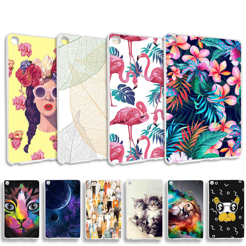 Painted Silicone Phone Cases For Samsung Galaxy Tab A 8.0 2019 SM-P200 10.1 T515 S5E T720 T725 Bumper Cover Shell Tablet Bags