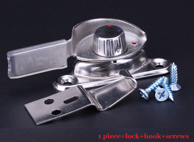 24Pcs/Lot  Stainless Steel Window Sash Lock Locks With Safety function