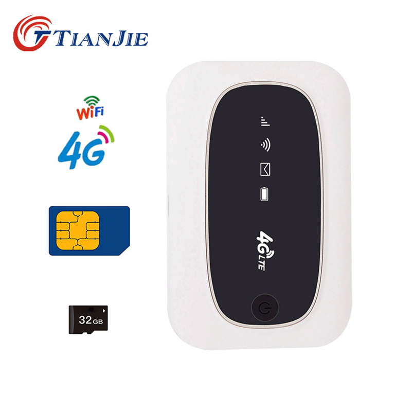 TIANJIE 3G 4G Universal Wifi Router Portable LTE Pocket router Unlocked Mobile Hotspot 150Mbps Business Travel