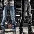 new arrival men motorcycle jeans race automobile straight jeans motorcycle pants drop resistance black blue plus size 4XL
