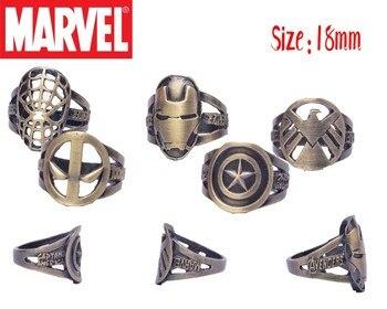 Кольца с эмблемами героев Марвел и DC Marvel