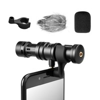 Comica CVM VS08 Directional Microphone For iOS and Android Smartphone with Wind Muff