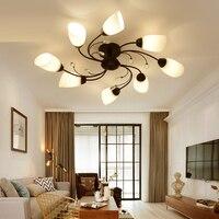 Американский Железный искусства потолочный светильник современной гостиной лампа спальня потолок комнаты освещение личности ресторан ка
