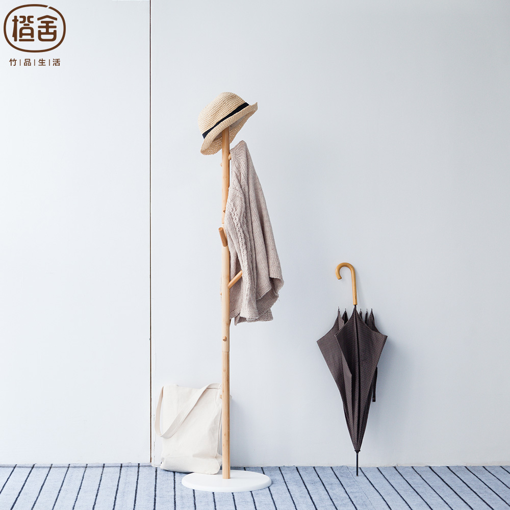 zenu0027s bamboo coat stand hat and clothes rack bamboo hall tree 6 hooks - Clothes Tree