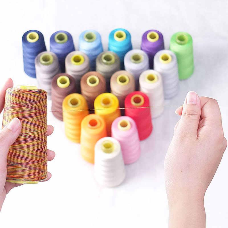 Lmdz 1Pcs 150D/3 Regenboog Kleur Naaigaren Hand Quilten Borduren Naaigaren Bonte Polyester Handwerken Fiber Garen