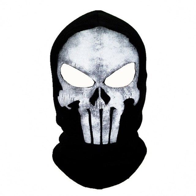 Black Mask Balaclava Beanies Hats Men Ghost Skull Full Face Warmly Mask Hood Beanie Ggorros Hombre Casquette Bbalaclava