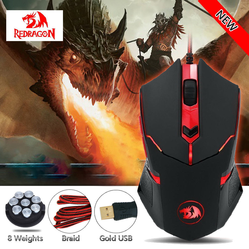 Red Dragon Shark 2 Game Mouse 79/5000 Redragon M601 CENTROPHORUS-3200 DPI Light Gaming