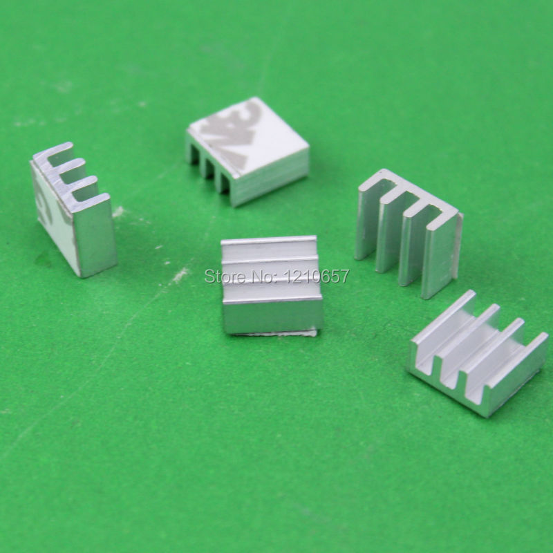 1000pieces lot Aluminum Heat sinks Heatsink Cooler IC Card PC RAM Memory Chip 11 x 11
