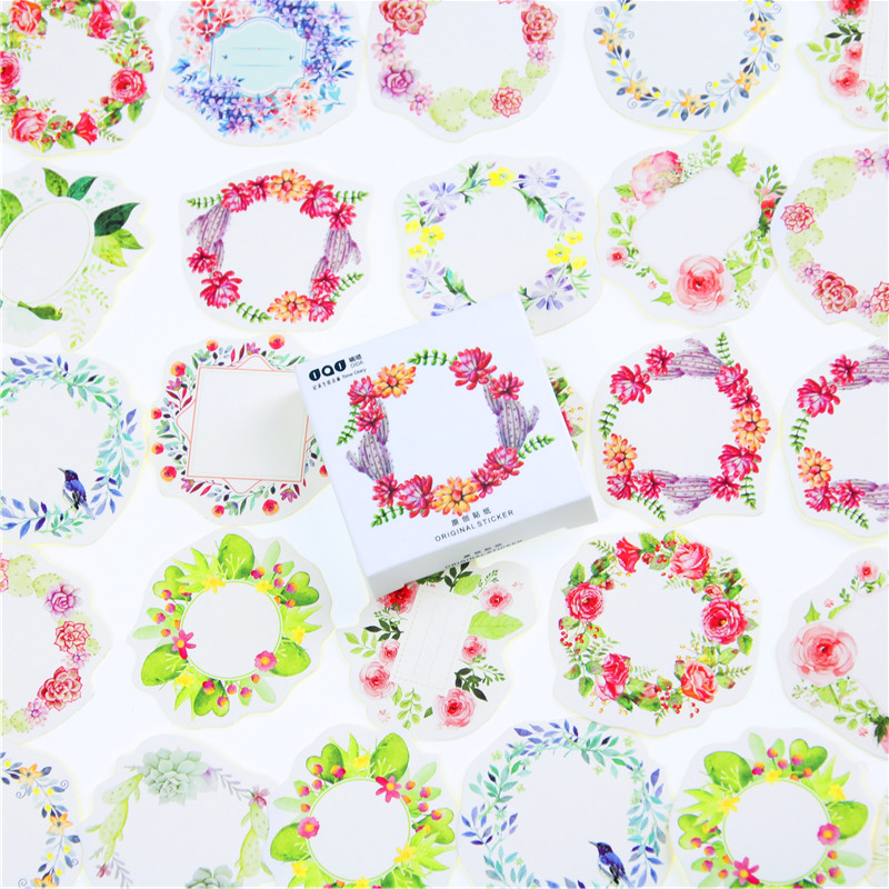 45 Pcs/lot Mini Wreath Paper Sticker Decoration DIY Ablum Diary Scrapbooking Label Sticker Kawaii Stationery