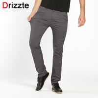 Drizzte Mens Quality Stretch Casual Dress Pants Classic Best Quality Business Trousers Black Blue Size 30