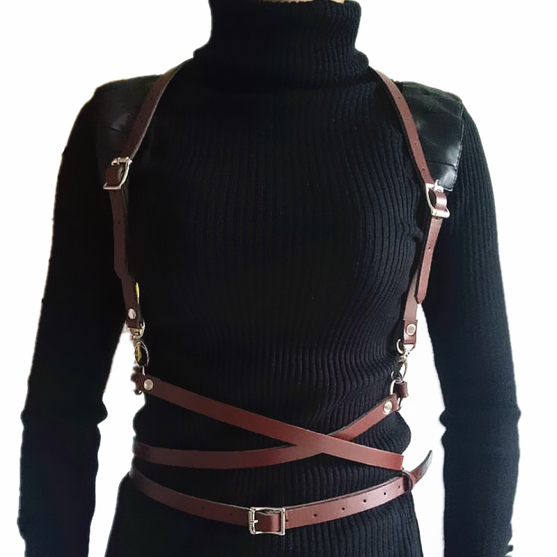 New Faux Leather Harness Punk Gothic Body Bondage Cage Shoulder Wrapped Waist Straps Women Men Belt Suspenders Accessories