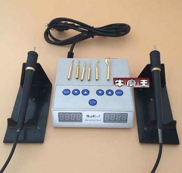 Cireuse électrique dentaire sculpture couteau Machine Double stylo 6 cire pointe Pot bijoux outils