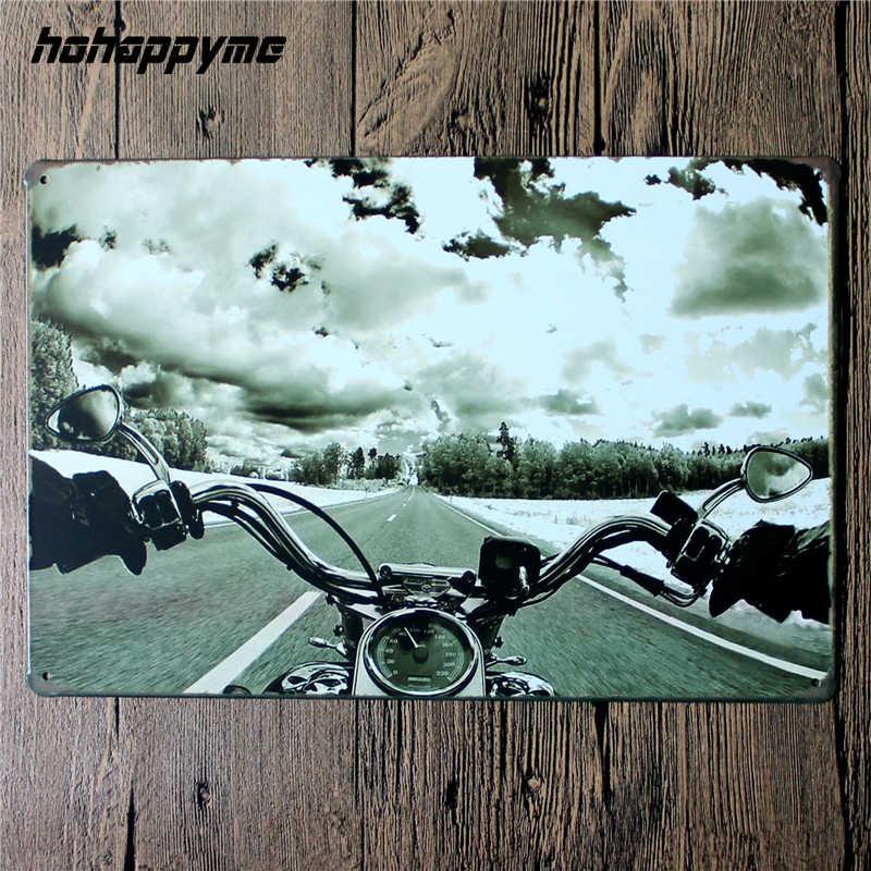 Sinais de estanho da motocicleta do vintage retro metal shabby chique casa decoração sinais placas de parede garagem poster passeio para viver 20*30cm