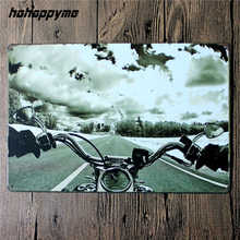 Vintage Motorcycle Tin Signs Retro Metal Shabby Chic Home Decor Signs Garage Wall Plaques Poster Ride To Live 20*30cm