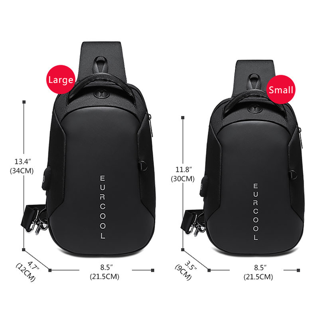 Multifunction Crossbody Bags Men USB Charging Chest Pack Short Trip Messengers Chest Bag Water Repellent Shoulder Bag Male n1825