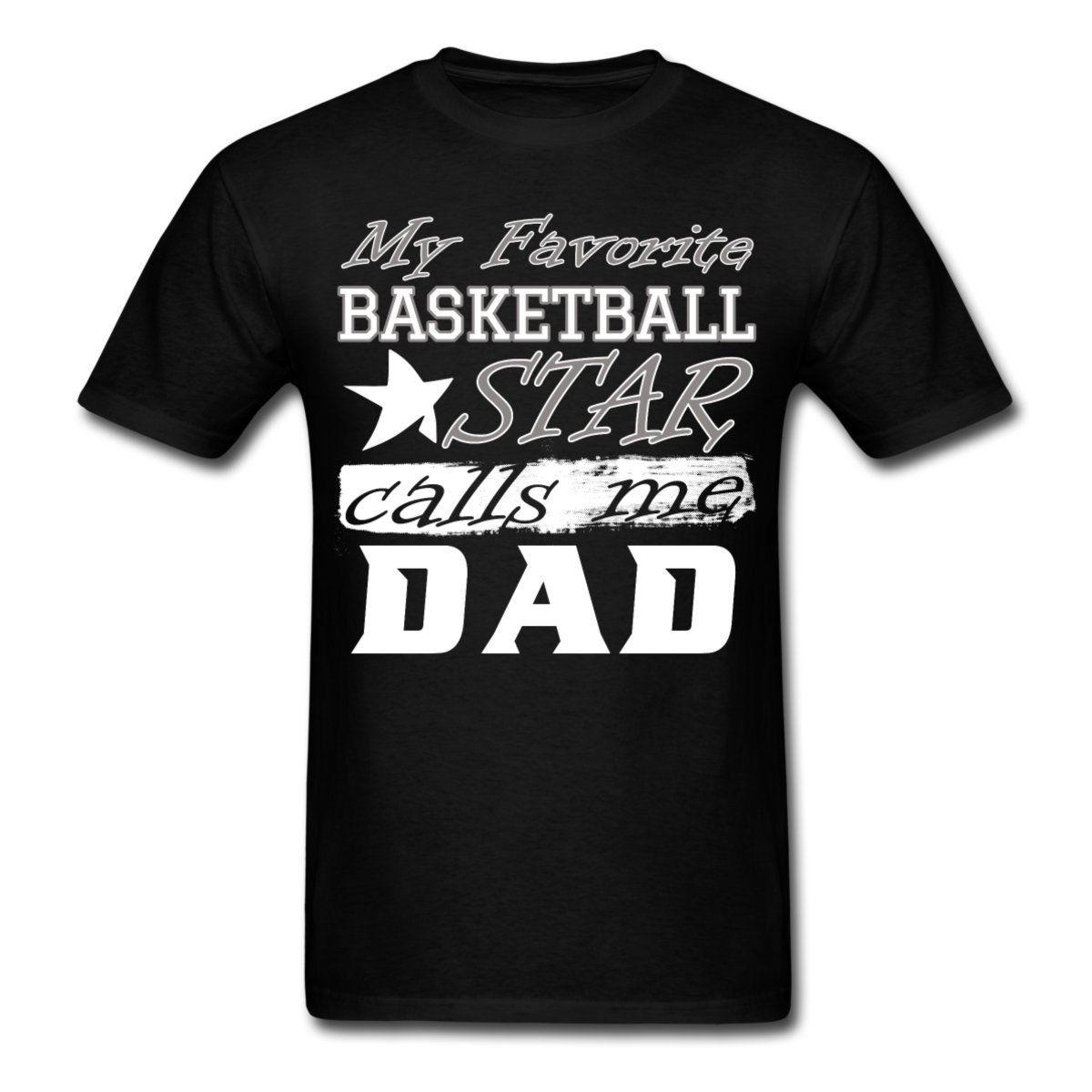 Basketballer Star Dad Men's T-Shirt Teenage Natural Cotton Printed Funny Clothing Casual Short Sleeve T Shirts