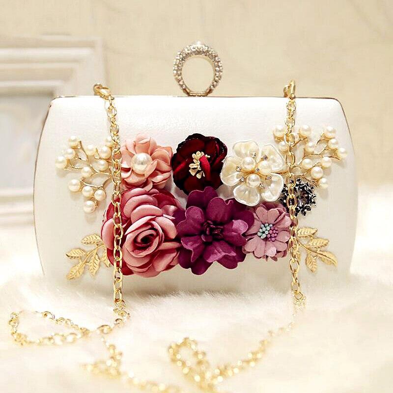Ljl alta qualidade luxo artesanal flores sacos