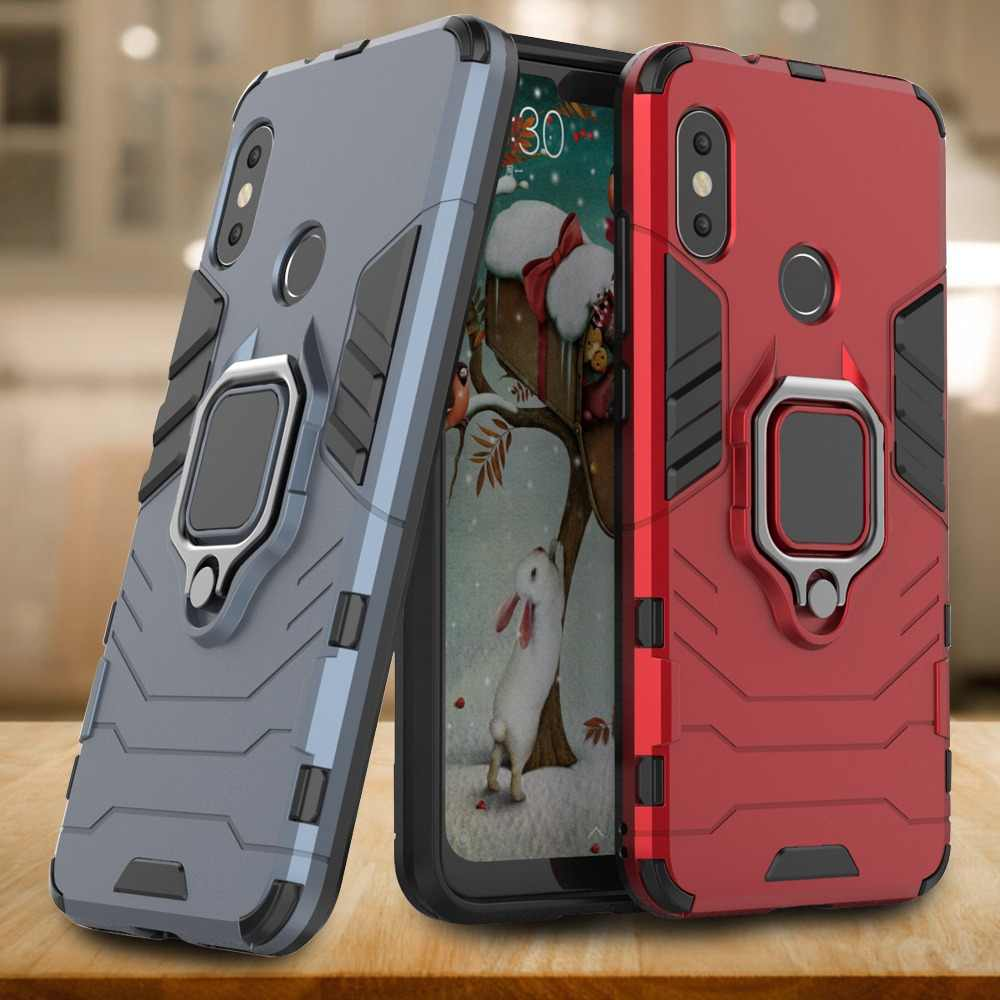 Case Voor Red mi note 6 pro Case Ring Cover Voor Xiao Mi mi 8 lite A2 Lite POCOPHONE F1 Case voor Red mi 5 plus Note 4 4X MI max 3 8SE