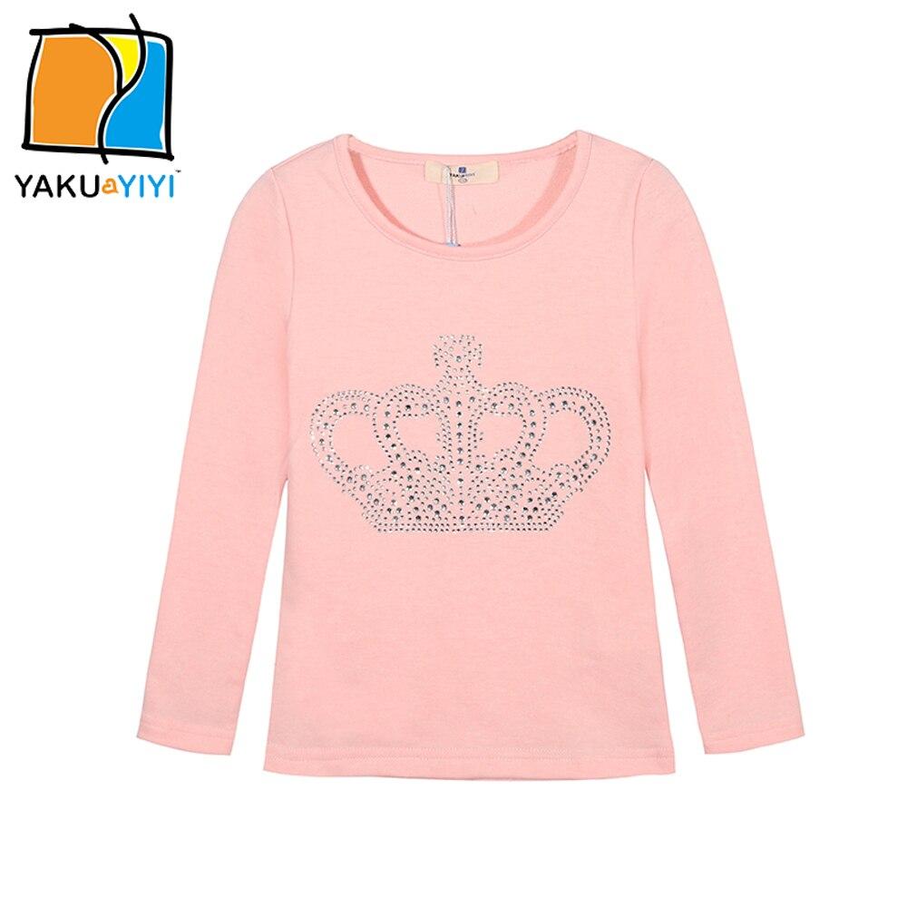 Ykyy yakuyiyi new girls t shirt sweet crown decoration for Newborn girl t shirts