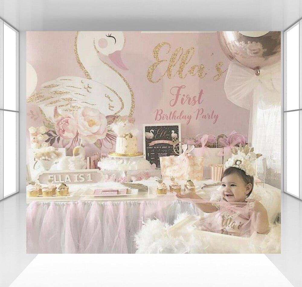 Fond de photographie rose pour fille bébé douche arrière-plan photo studio accessoires stand fête d'anniversaire décor table dessert CZ-153