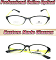 Marco Óptico del ojo de gato negro y amarillo Por Encargo lentes ópticas gafas de lectura + 1 + 1.5 + 2 + 2.5 + 3 + 3.5 + 4 + 4.5 + 5 + 5.5 + 6