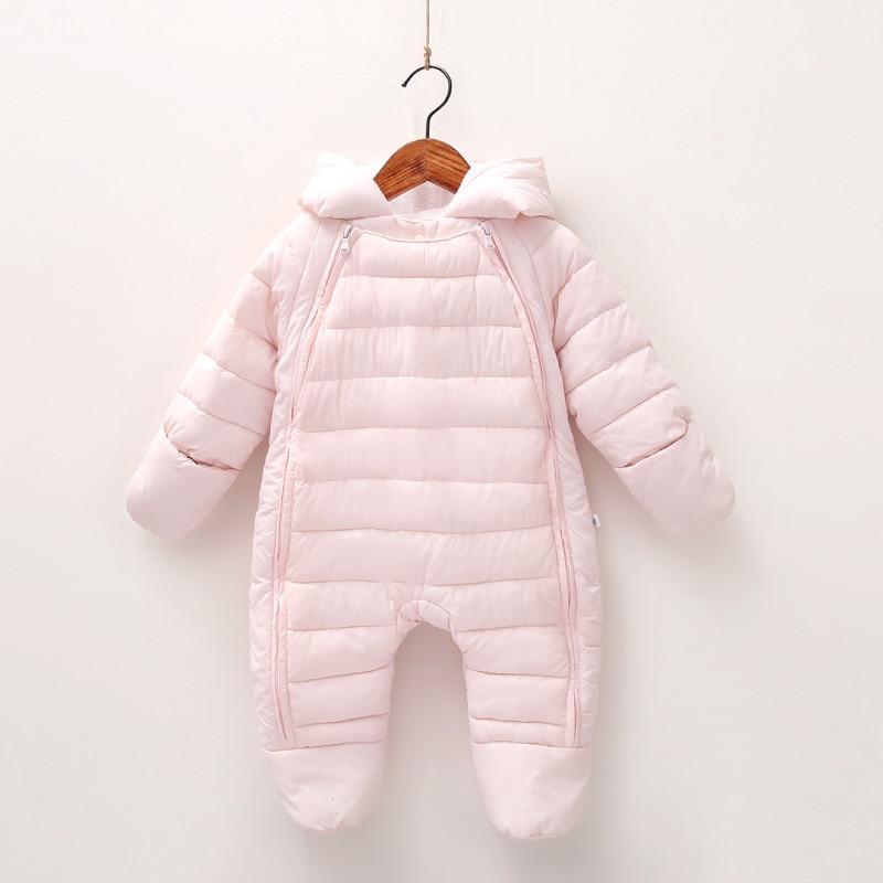 Image 4 - 2019 Autumn Winter Baby Romper Baby Boy Girl Winter Warm Kids Jumpsuit Clothes Fleece Warm Baby Infant Clothes Rompers 0 12M-in Rompers from Mother & Kids