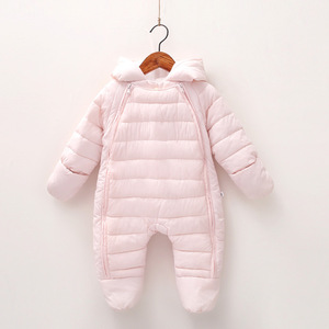 Image 2 - 2020 Spring Baby Girls Romper Warm Winter Kids Boy Jumpsuit Clothes Autumn Fleece Infant Onesies Unisex Newborn Overalls
