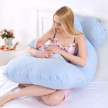 Femmes enceintes allaitement oreillers enceinte maman corps sommeil coussin taie d'oreiller U forme maternité oreillers grossesse côté dormeurs