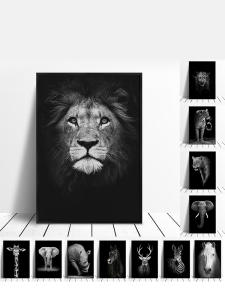 Canvas Painting Decoration Wall-Pictures Zebra Posters Deer Lion Animal Prints Living-Room