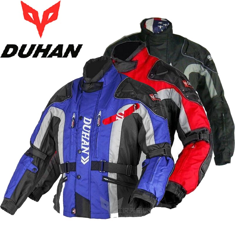 2017 New DUHAN Motocross Motorcycle riding jacket Off-road jackets Autumn winter clothes moto racing clothing coat Windproof 2015 new duhan dk 018 moto pants motorcycle jeans off road motorcycle riding pant drop resistance external protective gear