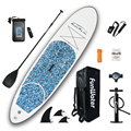 Inflable Stand Up Paddle Junta Sup-tabla de Surf, Kayak Surf de 10'x30''x4''with mochila correa de bolsa impermeable