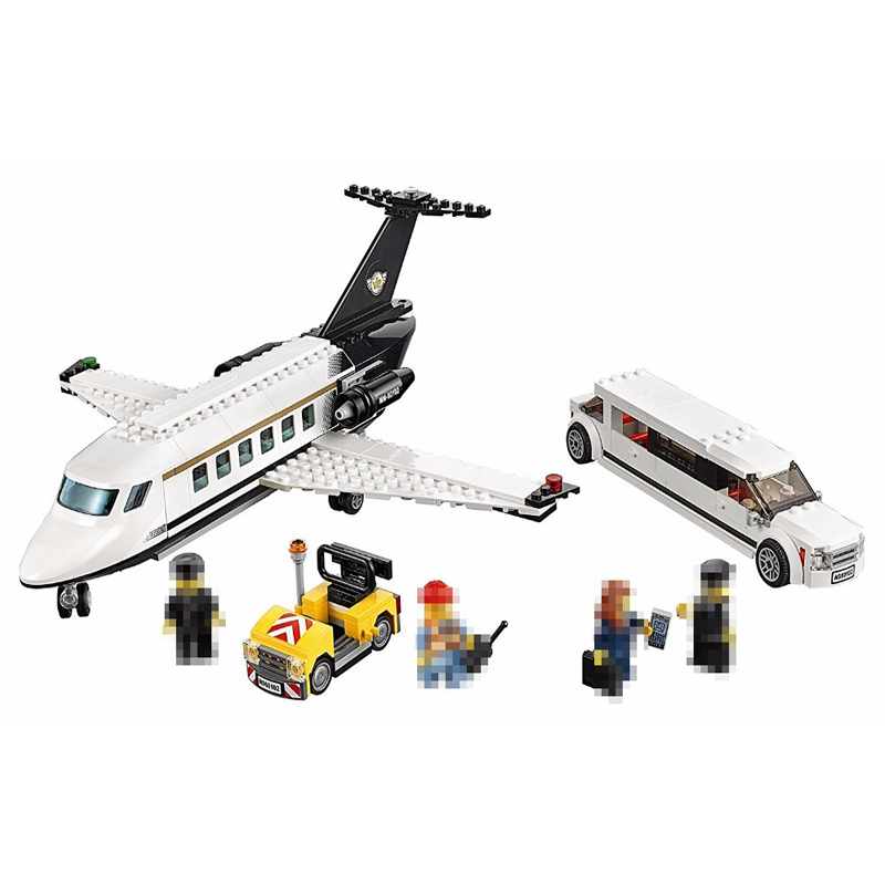 Lepin 02044  393PCS New Genuine City Series Airport VIP service Building Blocks Bricks Educational Toys for Children gifts 60102 new lepin 16008 cinderella princess castle city model building block kid educational toys for children gift compatible 71040