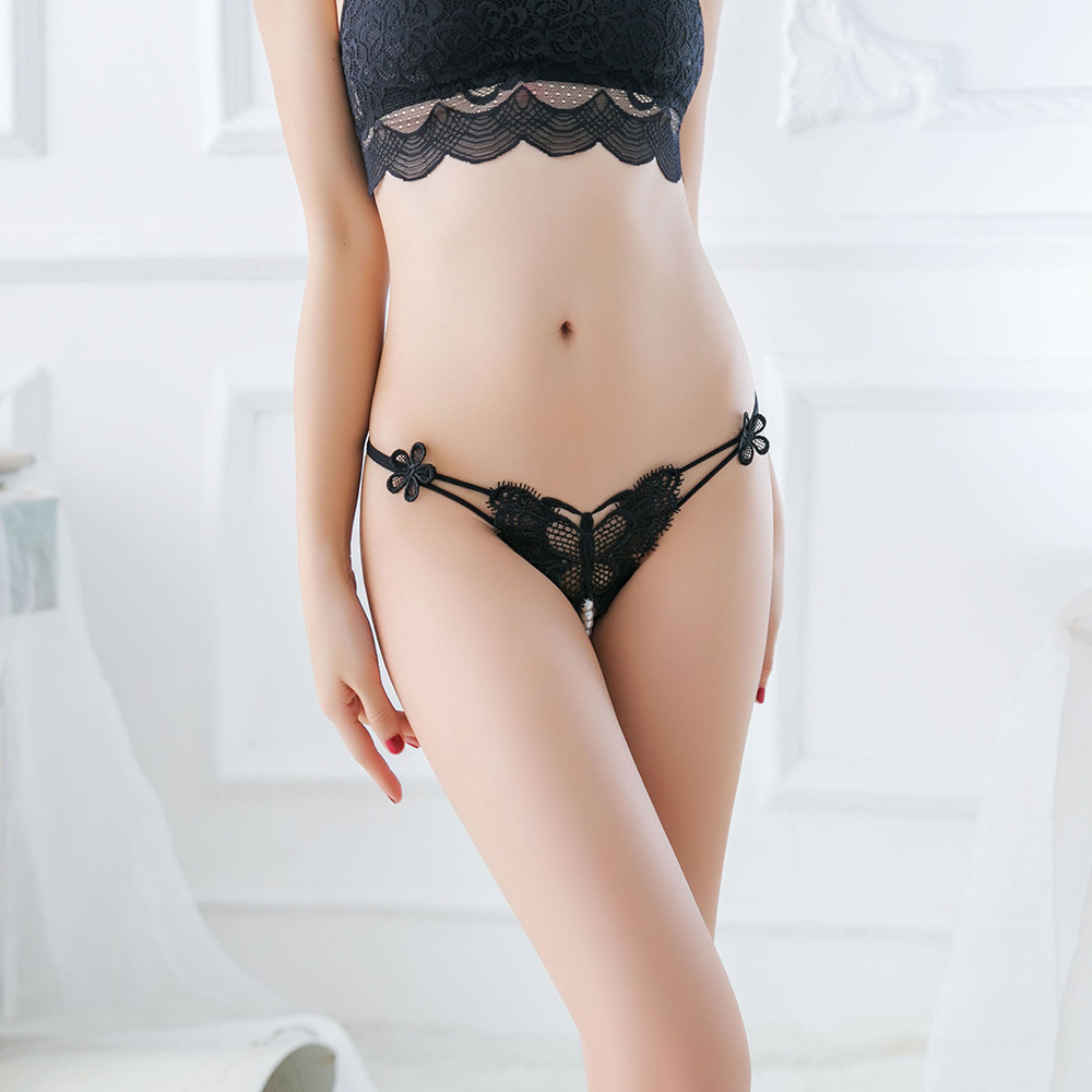 Luckymily Womens Sexy Lingerie Hot Erotic Panties Porn Transparent Underwear Crotchless Sex Wear G-string Thong With Pearl Tanga