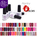 Sexy mix Any 6 Pcs Colorful UV Nail Gel DIY Nail Art Soak Off Long Lasting UV Gel Lacquer Polish Need UV Lamp Professional Gel