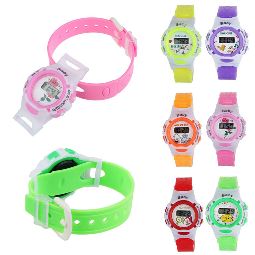 2017 NEW  Colorful Boys Girls Students Time Electronic Digital Wrist Sport Watch Drop Shipping #0307 new fashion design unisex sport watch silicone multi purpose date time electronic wrist calculator boys girls children watch