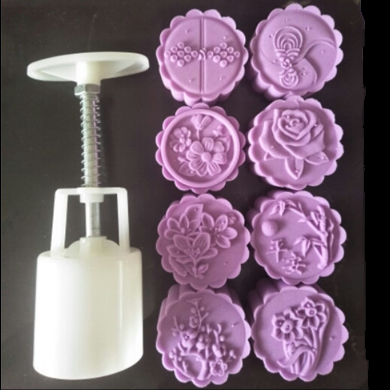 92dca4cb1 New 50g 3D Daffodils Rose Flower Cake Plunger Tools Plastic Moon Cake Mold  Baking Pastry Tools