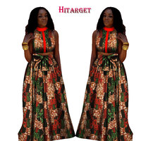 2019 New Arrival African Print Skirt Set Bazin Riche Mini Top and Skirts African Clothes for Women Plus Size Women Set WY1281