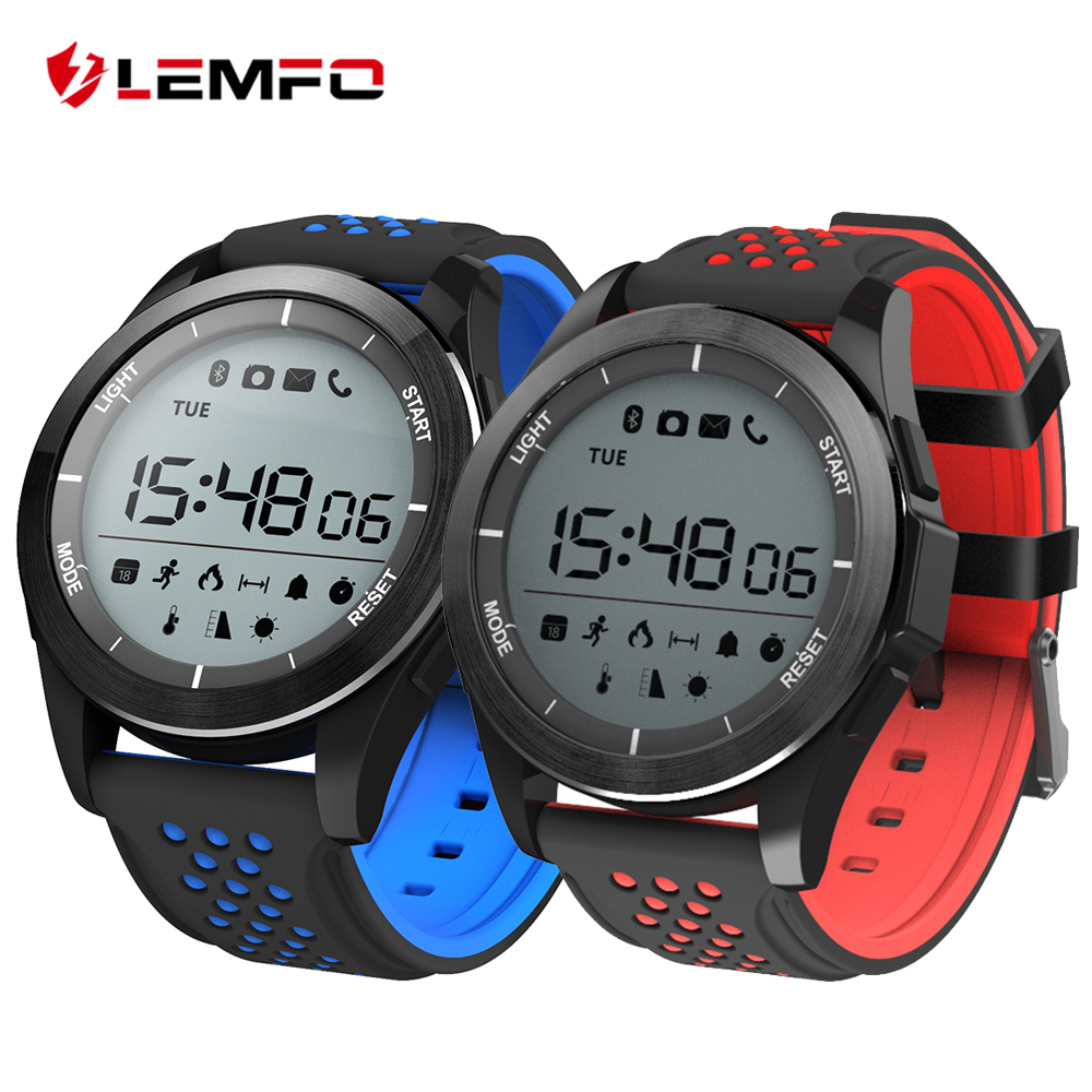 LEMFO F3 Smart Watch Pedometer Wrist Wearable Device Smart Watch Waterproof IP68 Swimming Long Standby for IOS Android Phone diggro di10 smart sport watch ip68 waterproof pedomete long standby time bluetooth 4 0 smart 1 21 inch watch for ios android