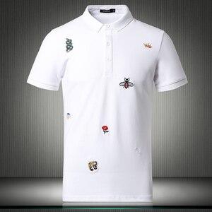 Image 2 - Мужская рубашка поло с цветочным принтом, размеры M 4XL/5XL