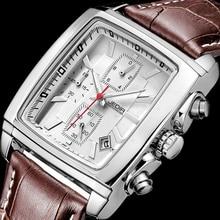 JEDIR Militar Deportes Relojes de Los Hombres 2017 Top Marca de Lujo Hombre reloj Hombre Cronógrafo Cuero ejército Cuarzo reloj relogio masculino