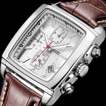 JEDIR Sports Military Men Watches 2017 Top Brand Luxury Male clock Man Chronograph Leather army Quartz-watch relogio masculino