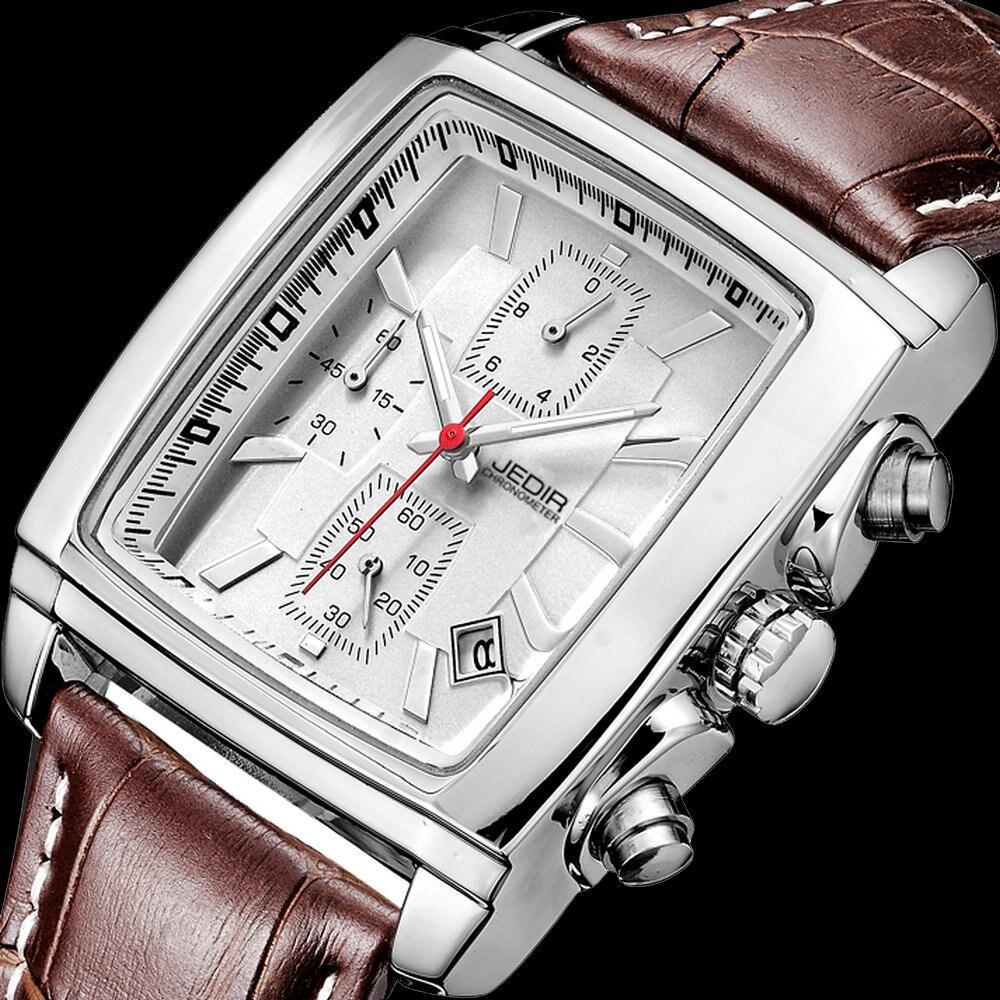 Prix pour Jedir sport militaire hommes montres 2017 top marque de luxe homme horloge hommes chronographe en cuir armée quartz-montre relogio masculino