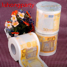 2Packs 60m 50Euros money Printing Toilet Paper Tissues Roll Novelty Tissue Wholesale
